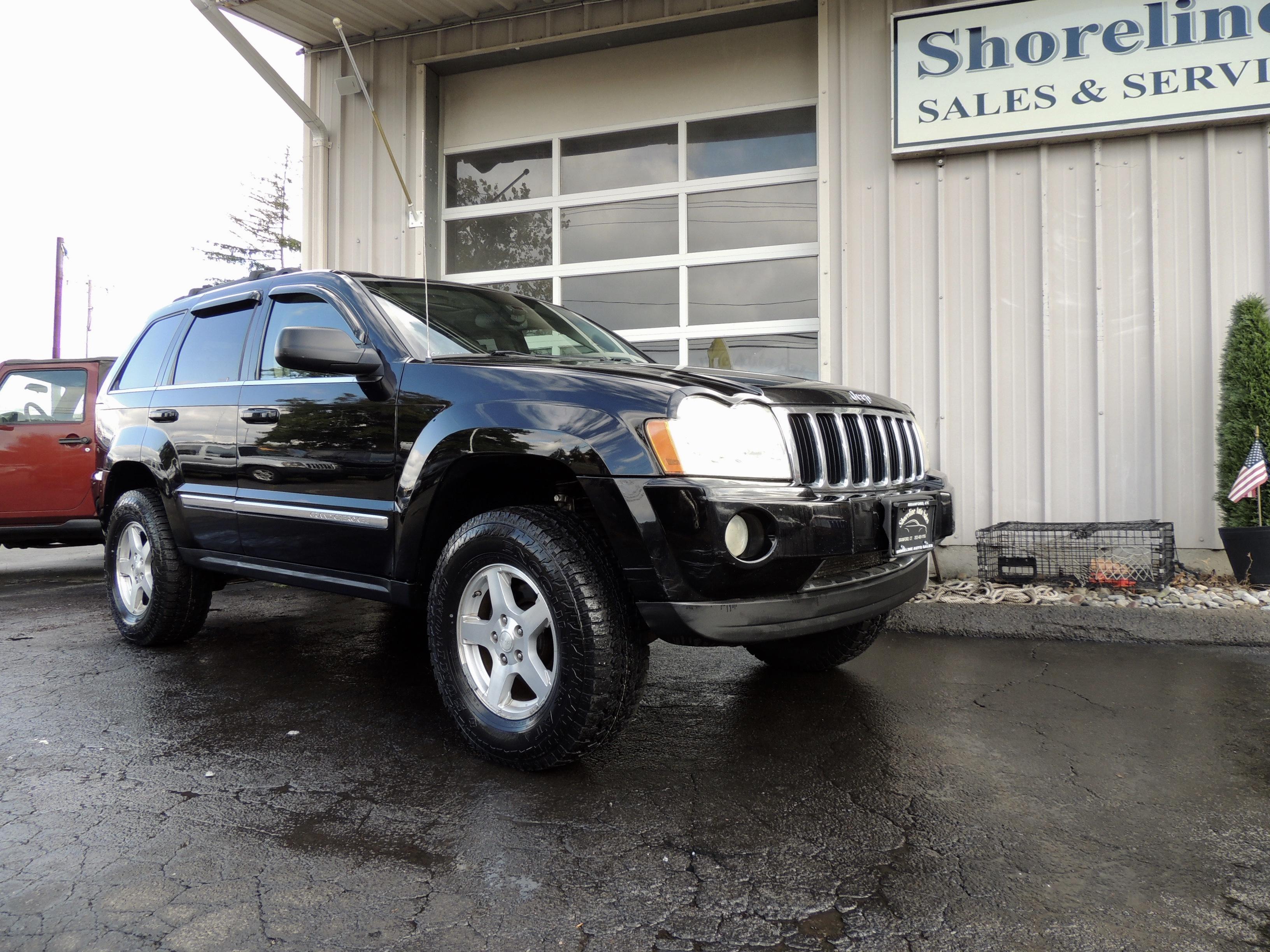 cherokee jeep grand hemi 2006 limited edition tires oversized lift shoreline auto